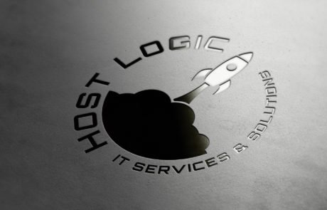 Host-Logic logo embossed in leather