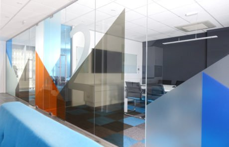 Intelogy conference room glass walls