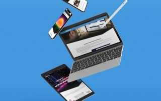 Wellingtone website - laptop, tablet and mobile devices
