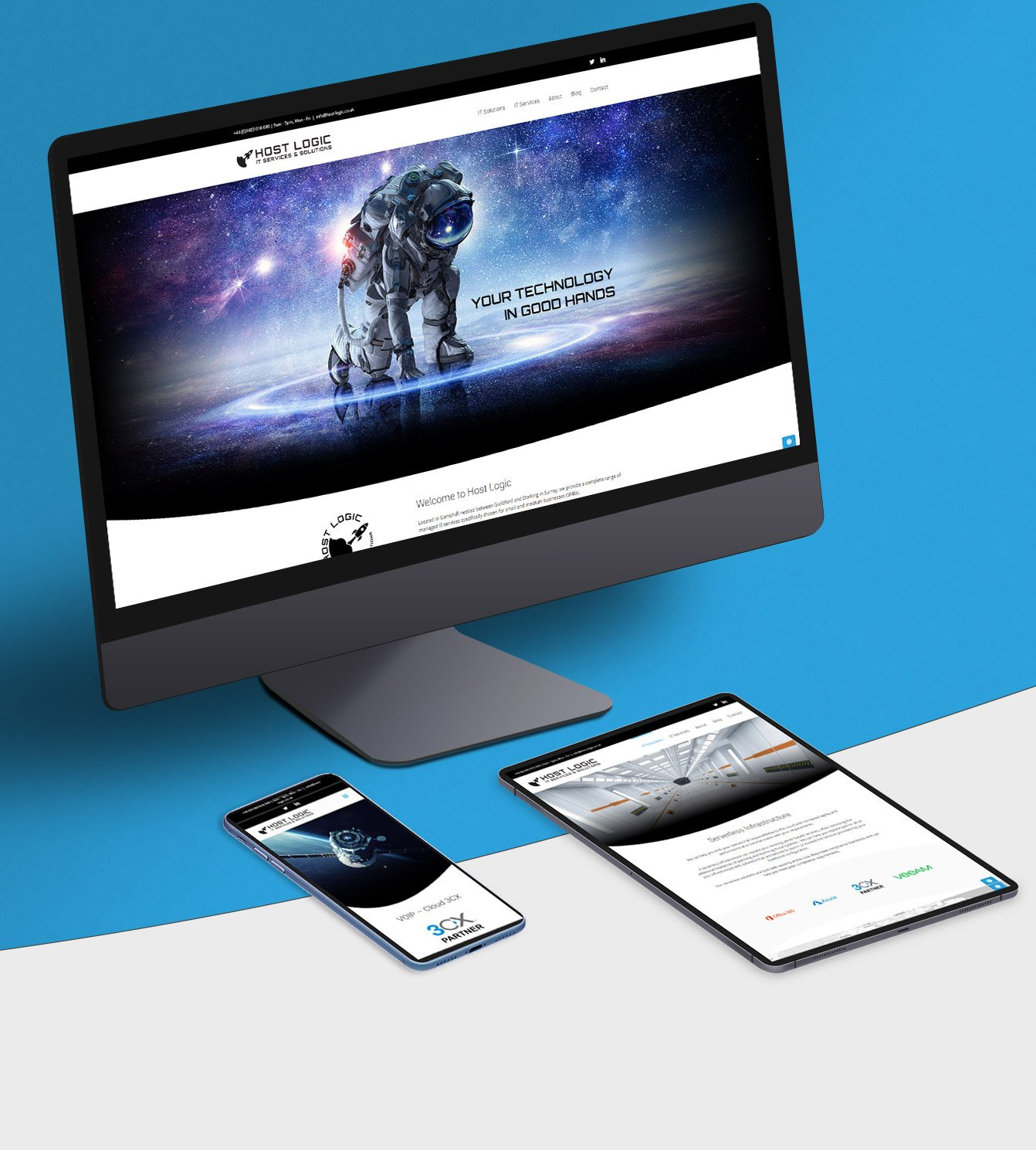 Host Logic website on various devices